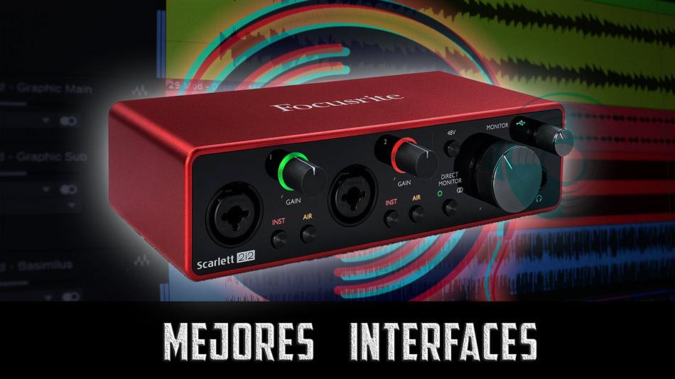 mejor interfaz de audio para home studio