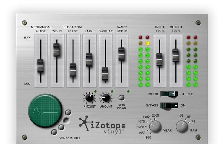 Vinyl izotope plugin